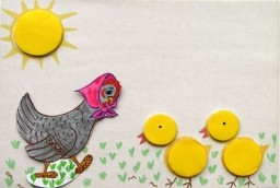 Цыплята после