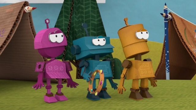 Бумажки. Робот. Новая серия 57. Мультик про бумажные поделки с детьми.