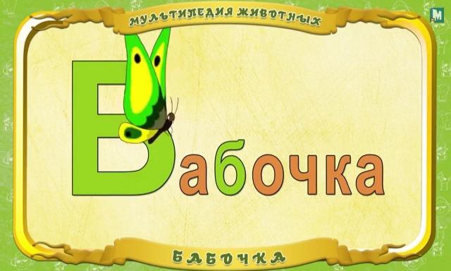 Мультипедия животных - Буква Б - Бабочка