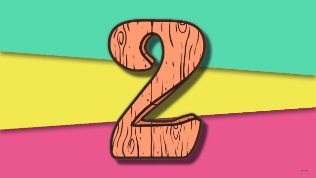 Цифра 2 (учим цифры) - ПРЕДКИ - развивающие мультфильмы для детей и малышей