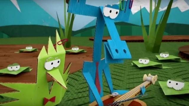 Мультфильм про оригами - Бумажки - Бумажный концерт - серия 29