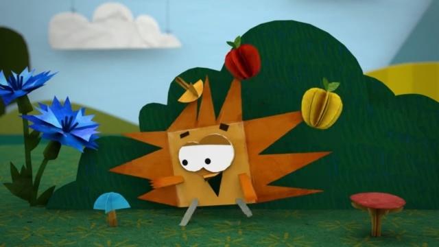 Бумажки - Запасы на зиму. 61-я серия. Мультик оригами для детей.