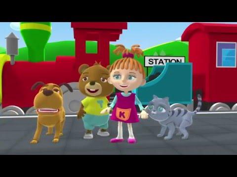 Английский для Детей Том и Кери мультфильм 4 поезд