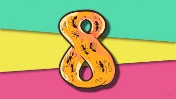Цифра 8 - ПРЕДКИ - Развивающий мультик / счет до 10 - мультфильмы для детей