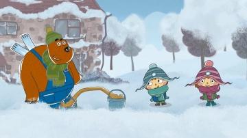 """Развивающие мультики для детей """"Малыши и Летающие звери"""" - Зимняя прогулка (2)"""