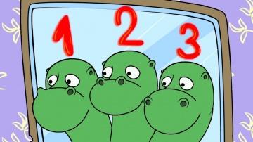 Учим цифры - цифра 3 - ПРЕДКИ - развивающий мультфильм для детей